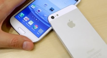 Screen Test Iphone 5 Vs Samsung Galaxy S3