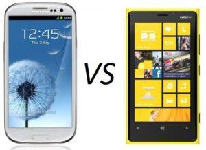 Samsung Galaxy S3 vs Nokia Lumia 920 image
